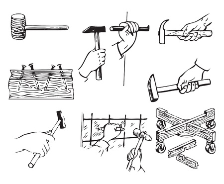 Tools related to work with hammers.