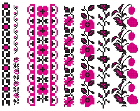 飾りはウクライナの民俗工芸、刺繍、絵画に使用されます。ベクトル イラスト。