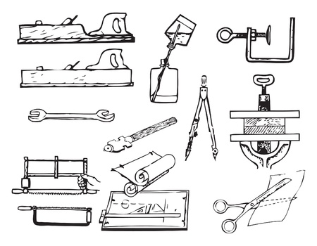 Tools for different jobs in the workshop. Vector illustration of a format EPS. Vettoriali
