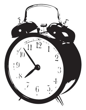 R�veil m�canique avec rappel d'alarme sur le cas. Vector illustration d'un format EPS.
