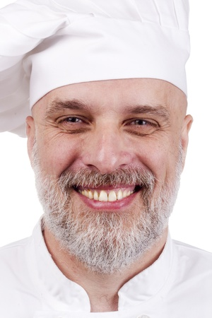 Portrait of a happy chef in a chef's hat. Stock Photo - 10801760