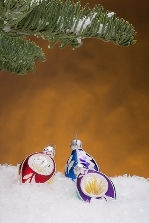 Holiday decorations for Christmas trees in the new year. Stock Photo - 10837497