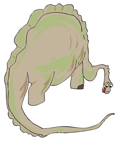 공룡은 1 억 6 천만 년 동안 지배적 인 육상 척추 동물이었던 다양한 동물 군입니다 스톡 콘텐츠 - 10837508
