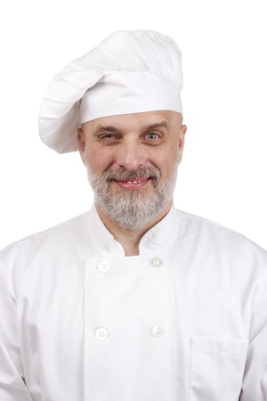 Portrait of a weird chef in a chef's hat. Stock Photo - 10882165