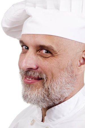 Portrait of a happy chef in a chef's hat. Stock Photo - 10990570