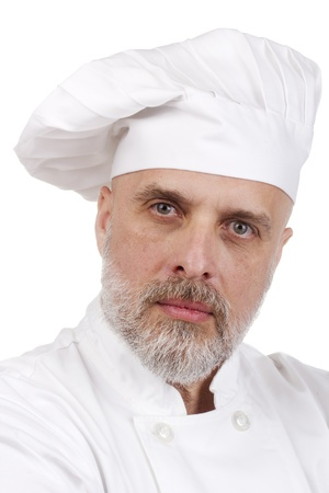 Portrait of a serious chef in a chef's hat. Stock Photo - 11252853