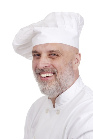 Portrait of a happy chef in chef's uniform. Stock Photo - 11411683