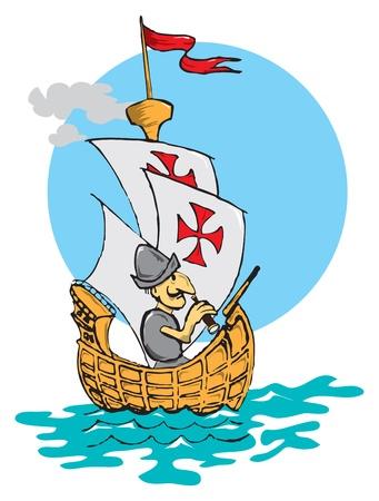 columbus: ilustraci�n sobre el tema de los viajes.