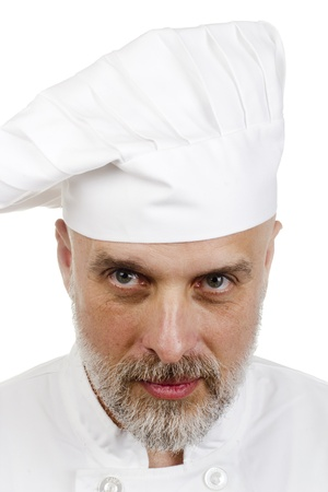 Portrait of a happy chef in a chef's hat. Stock Photo - 11411705