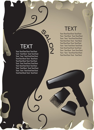 The concept of background information about the beauty salon.