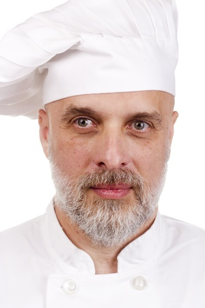 Portrait of a happy chef in a chef's hat. Stock Photo - 11411779
