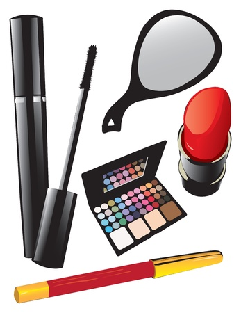 maquillage: Cosmetic set for eyes and lips.