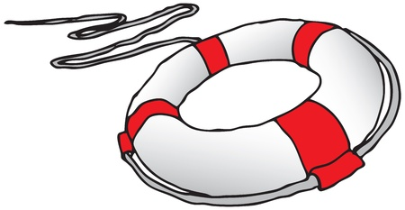 drowning: Subject to save drowning victims.  Illustration