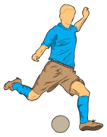 Een poker speler met de bal. Vector illustratie.