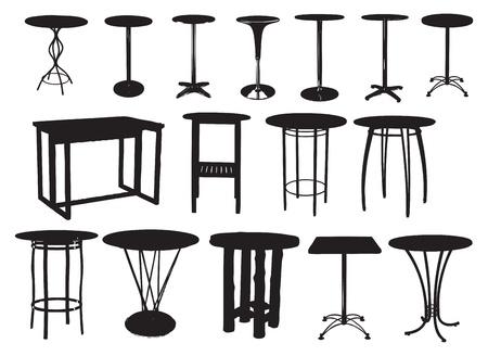 Un conjunto de tablas de barras. Ilustración del vector. Foto de archivo - 11655758