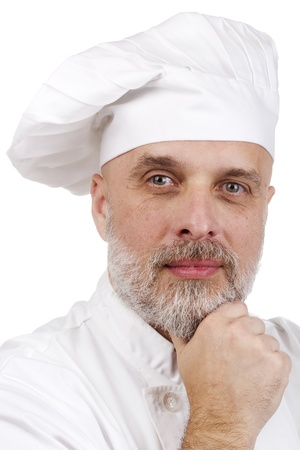Portrait of a confident, smiling chef in chef's uniform. Stock Photo - 11655783