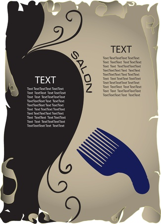 accessory: The concept of background information about the beauty salon. Vector illustration.