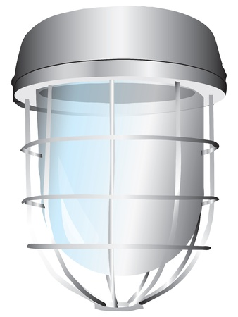 robust: Signal lamp with the lattice. Vector illustration.