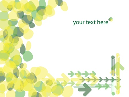 Abstract yellow-green vector background for design work.
