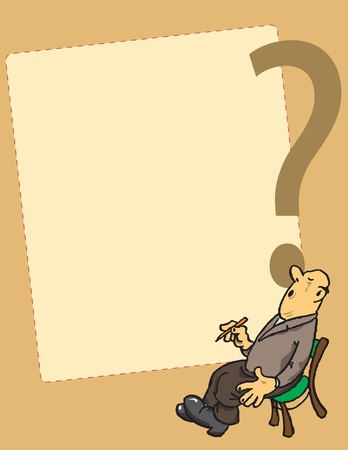 wonderment: Background with a surprised man for creativity on the issues of services.