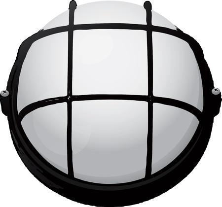 Lamp gebruikt in de productie of technische gebieden. Vector illustratie.