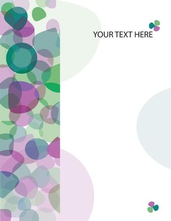 ページの紫と緑の楕円形の抽象的な背景は。ベクトルの図。  イラスト・ベクター素材