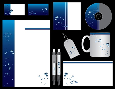 Corporate identity firms operating in the sea or ocean. Vector illustration. Stock Vector - 12017439