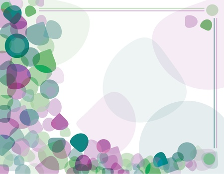 Abstract background of purple and green oval shapes. Vector illustration.