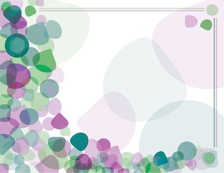 Abstracte achtergrond van paars en groen ovale vormen. Vector illustratie. Stock Illustratie
