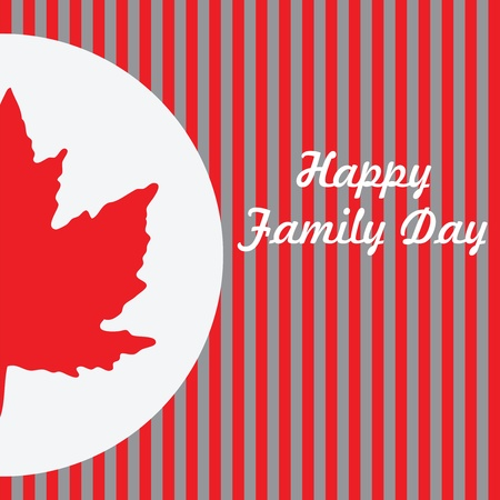 family holiday: Happy Family Day - Canada. ector illustration on a holiday in Canada in February. Illustration