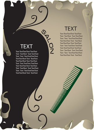 The concept of background information about the beauty salon. Vector illustration.