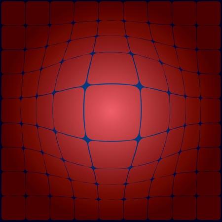角の丸い正方形の凸幾何学模様。ベクトル イラスト。