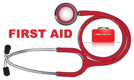 Le concept de premiers secours. Vector illustration. Banque d'images - 12200200