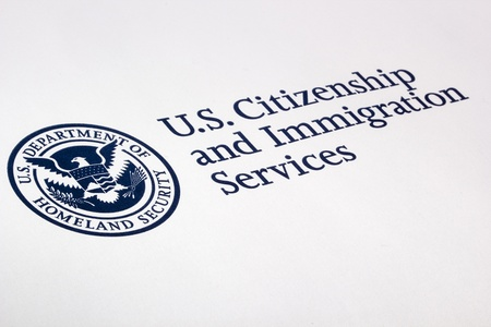 citizenship: Photograph of a U.S. Department of Homeland Security logo.