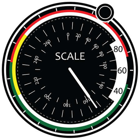 Scale pointer to the controller. illustration.