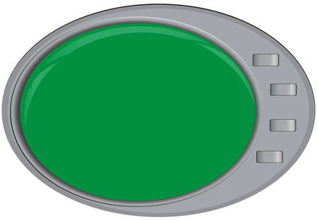 Modern technologies. Oval screen with control buttons. illustration.