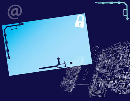 background on the topic of network security. Stock Vector - 12498529