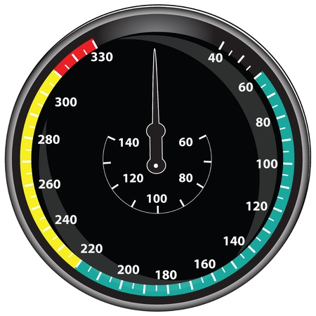 oversight: The circular digital display for monitoring.  illustration. Illustration