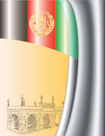 Creative for the design development background Afghanistan.  illustration. Ilustração