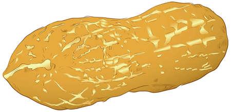 Figure peanut, nut popular in the food industry. illustration.
