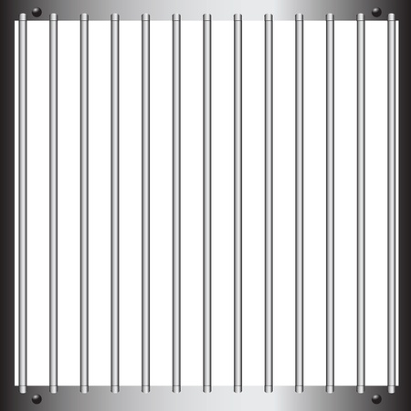 Steel bars of prison bars. illustration. Illustration