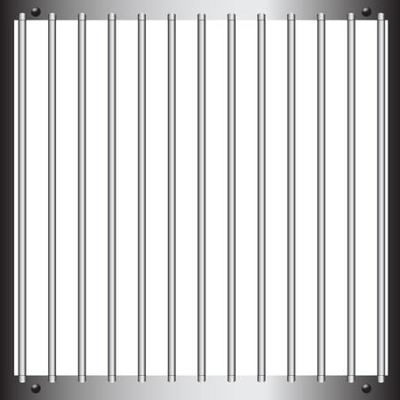 jail cell: Steel bars of prison bars. illustration. Illustration