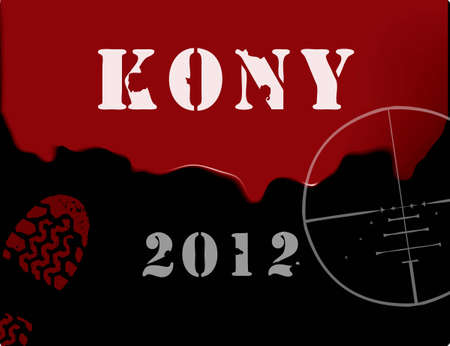 illustration on the topic of Kony 2012 associated with Invisible Children. Stock Vector - 12813231