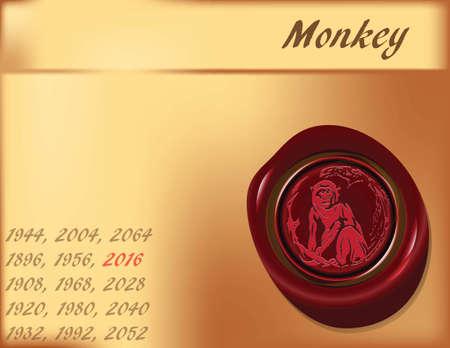 Symbol, the monkey on the eastern calendar.