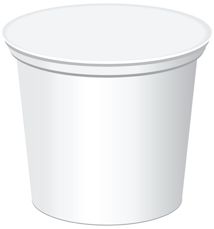 plastic container: Plastic containers for dairy products and jams
