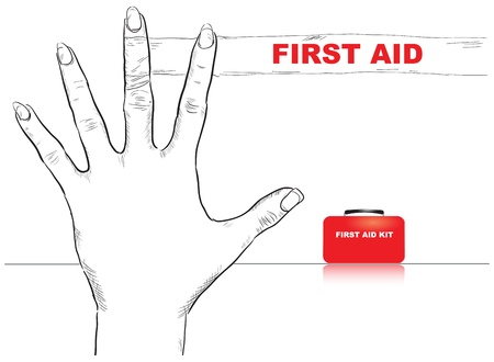Creativity on first aid. Bandaged finger.