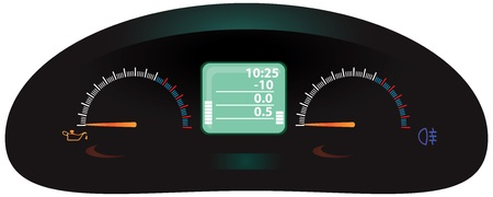 Modern digital display of the car Zdjęcie Seryjne - 12813410