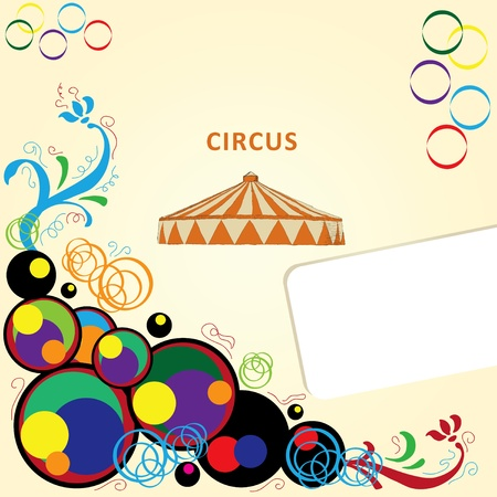 Circus tent with space for text. Vector