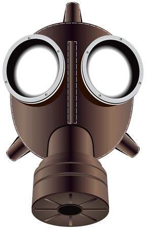 riesgo quimico: La m�scara de protecci�n en la cara del filtro. Ilustraci�n del vector. Vectores