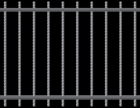 Steel reinforcing rods of the grill. Vector illustration. 일러스트